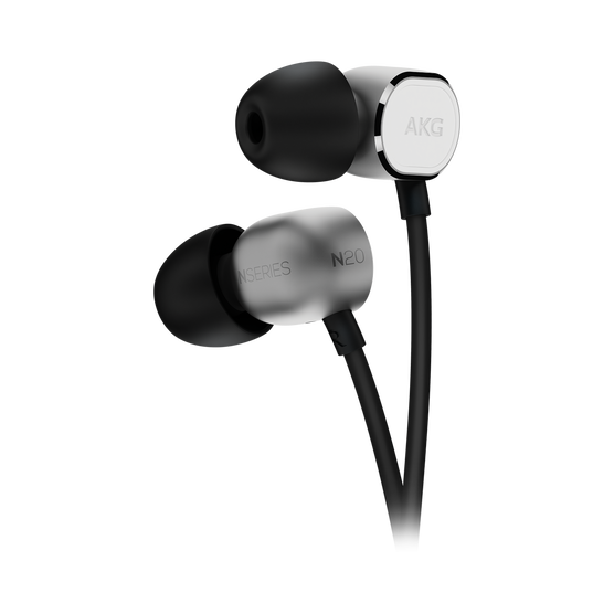 N20U - Silver - Reference class in-ear headphones with universal 3 button remote. - Detailshot 1