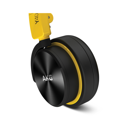 Y40 - Yellow - High-performance foldable headphones with universal in-line microphone and remote - Detailshot 1