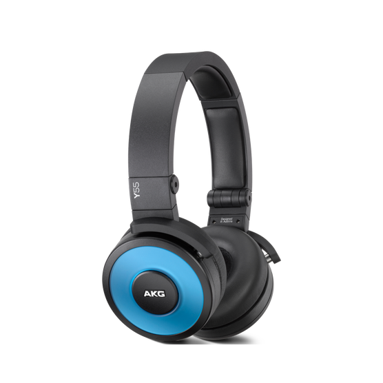 Y55 - Blue - High-performance DJ headphones with in-line microphone and remote - Hero