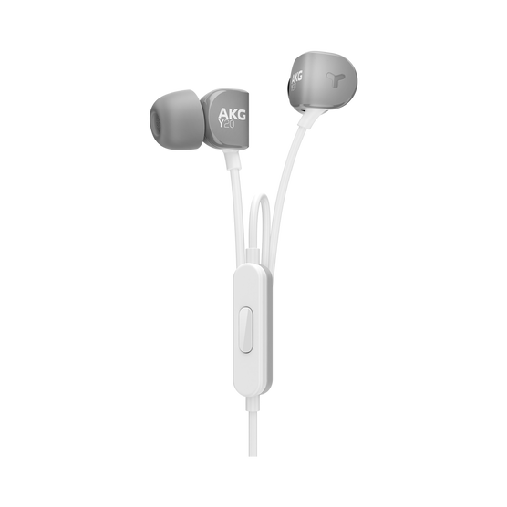 Y20U - Grey - Signature AKG in-ear stereo headphone that takes your calls - Hero
